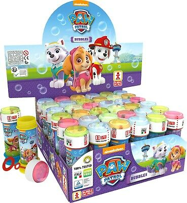 Children's Kids Girls Paw Patrol Bubble Tubes Tubs Party Bag Fillers