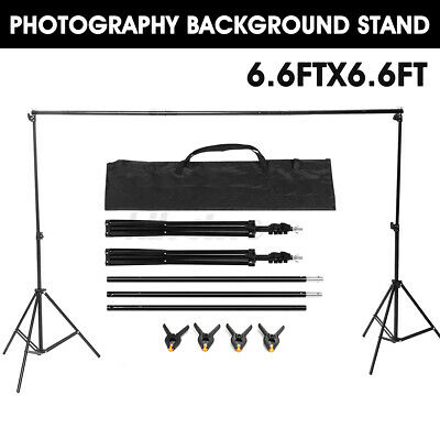6.6Ft Adjustable Background Support Stand Backdrop Crossbar Photo Photography