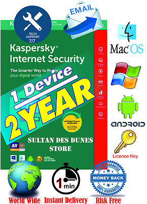 Kaspersky Internet Security 🔑1Dev/ 2Years 🔑2020🔑Instant Delivery🔑World Wide