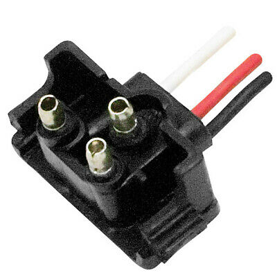 Valterra WP-1M-V-399 Trailer Light Connector Pigtail Diamond Group 3 Wire Plug