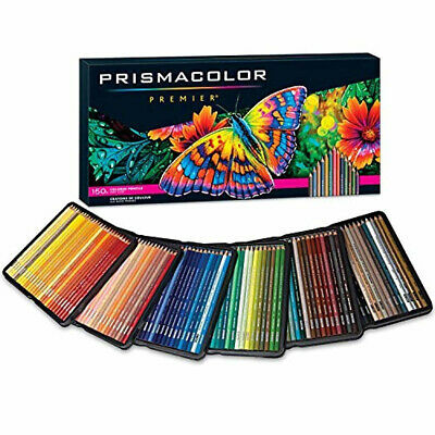 NEW-Prismacolor Premier Colored Pencils Soft Core 150 Pack FREE-Shipping