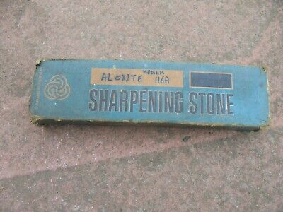 Vintage Aloxite No 116A Medium Carborundum Sharpening Stone