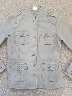 New Look Girls Khaki Military Spring Summer Lightweight Jacket Age 12-13 Years