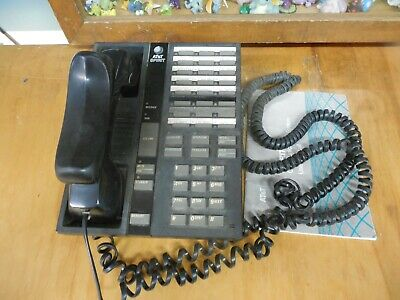 AT&T SPIRIT Speaker Black Telephone w/ User Manual  * Free Shipping! *