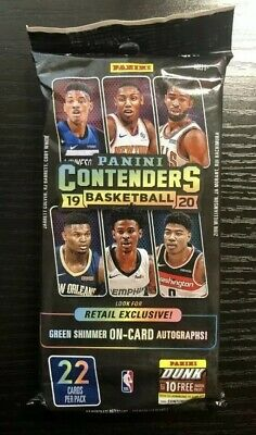 2019-20 Panini Contenders Basketball Fat Pack Cello Hanger Zion Ja Rookie