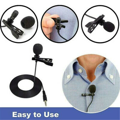 Lavalier Clip-on Lapel Microphone Omnidirectional Condenser For Laptop Computer