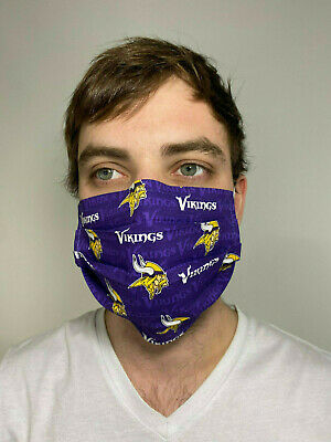 Minnesota Vikings Cotton Face Mask Handmade Washable Reusable wire nose Reuse