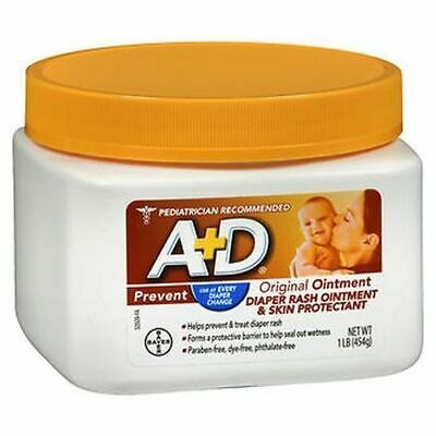 A+D Diaper Rash Ointment & Skin Protectant Original 16