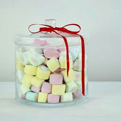 Glass clear Handmade Serving Bonbon Jar Candy Food chocolate Container 17 cm H