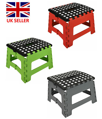 Multi Purpose Plastic Foldable Step Foot Stool Kitchen Garage Home Easy Storage