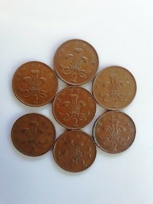 Old 7 Coins New Penny 1981-1975 Great Britain