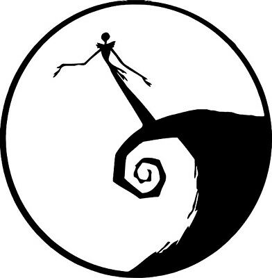 the nightmare before Christmas decal sticker window wall laptop door room