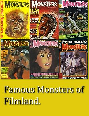 Famous Monsters of Filmland Magazine Collection - 198 Rare Issues + extras