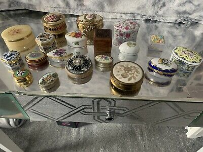 collection Of 20 Trinket Boxes