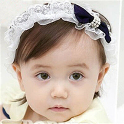 Beautiful Baby Girl Bowknot Headband Girl Elastic Hairband Lace Hair Accessories