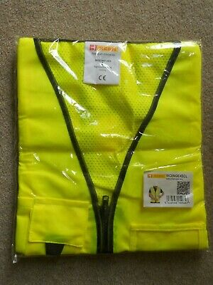 New High Visibility Executive Warning Vest,size Large
