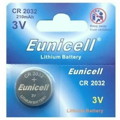 1 x CR2032 DL2032, BR2032 3V Lithium Coin Cell Button Battery Eunicell