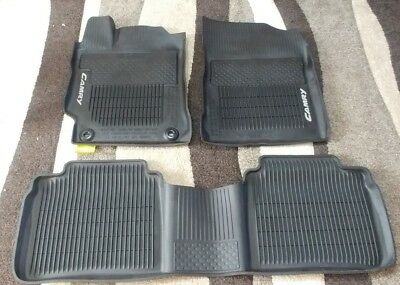 2015-2017 Toyota Camry All Weather Floor Mats Black OEM