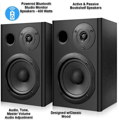 Powered Bluetooth Studio Monitor Speakers - 400 Watts Active Passi  Pyle PBKSP52