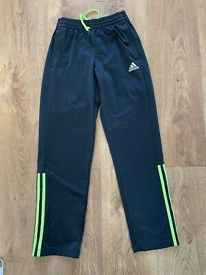 02 Adidas Boys Tracksuit Pants Size 11-12 Years