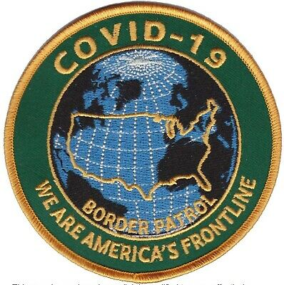 patch border patrol corona embroidered rare