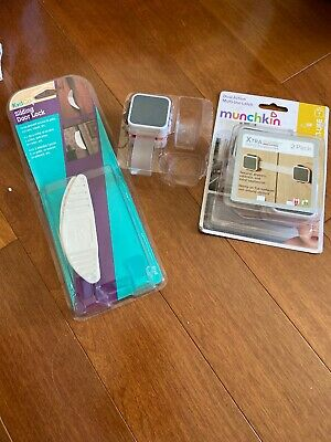 Munchkin Dual Action Multi-Use Latch 2 Pack Child Safety baby proof Sliding Door