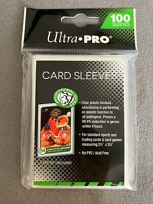 (100) Ultra Pro Sleeve ANTI-MICROBIAL /BACTÉRIEN - Cartes  Pokemon, DBZ [NEW]