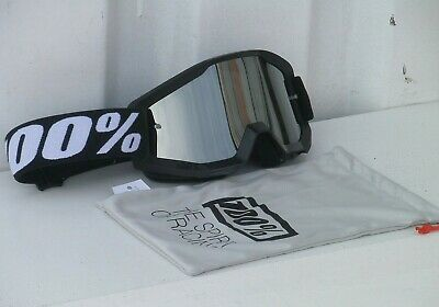 100 % Prozent Goliath Strata Brille Motocross Enduro Cross Silber Mirror