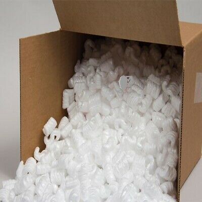 POLYSTYRENE S SHAPED LOOSE FILL/ PACKING PEANUTS/ VOID FILL BOXED 1.1+ Cubic ft