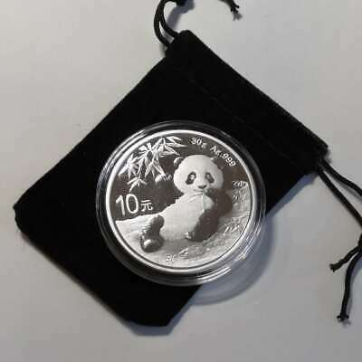 Brand New 2020 China 30 g Silver Panda Coin GEM BU