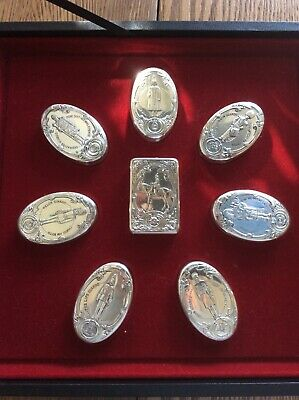 Sterling Silver THE GUARDS REGIMENT Snuff Boxes Set of 8