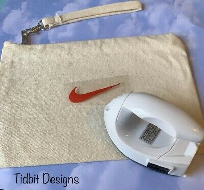 Sheet of 10 Red Nike Swoosh Iron On Decal / Tshirt   DIY Projects