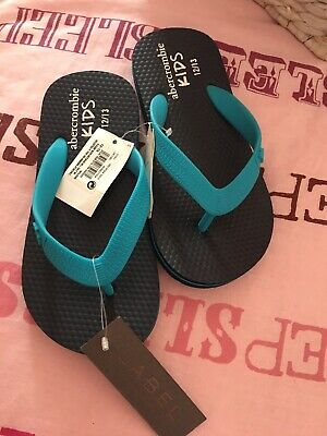 Abercrombie And Fitch Kids Flip Flops Size 12/13 Bnwt