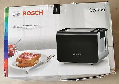 Stainless Steel Turquoise Bosch TAT8612GB Styline Toaster