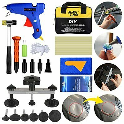 FLY5D Paintless Dent Puller Tools Kit.Upgraded Adjustable Bridge Puller 30Pcs