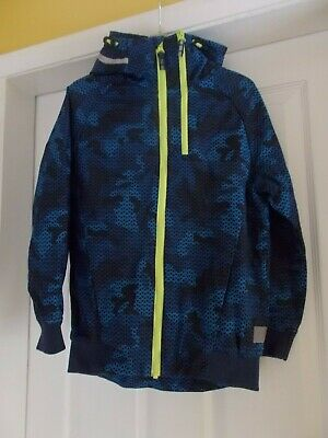 Next, Blue Graphic Lined Jacket, Age 8 Years.