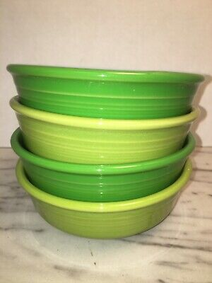 HLC Fiestaware Multi Mixed Colors Small Bowl Fiesta 14oz Cereal Bowls (4) Green