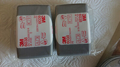 3M 6038 filters with EXPIRED MFD. Unused, old stock for welding/ grinding jobs.