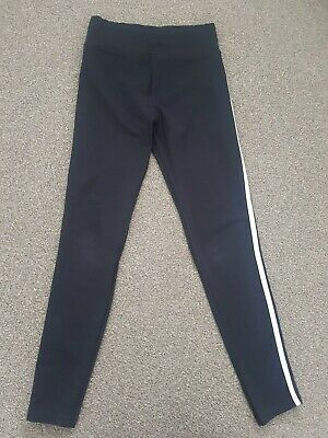 New Look 915 Generation Girls Black Leggings With White Piping Age 12-13 Years