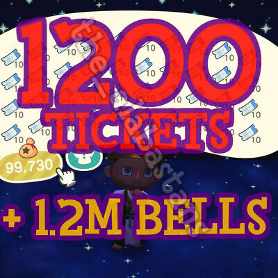 1200 Nook Miles Tickets 🎫 + 3 Royal Crowns 👑 10Min Delivery During Active Hrs