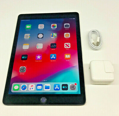 Apple iPad Air 2 128GB, Wi-Fi + Cellular (Unlocked), 9.7in - Space Gray Tested