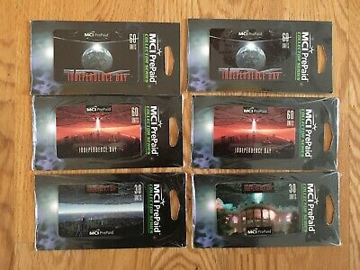 6 Phone Cards, USA, Independence Day, if foil