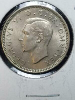1952 Great Britain Six Pence Uncirculated