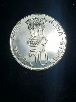 1974 India Proof 50 Rupees