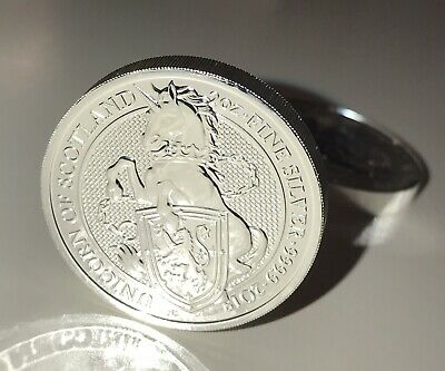 2018 Great Britain 2 Oz Silver Queen's Beast Unicorn Coin Roll Of 10 Unc Coins