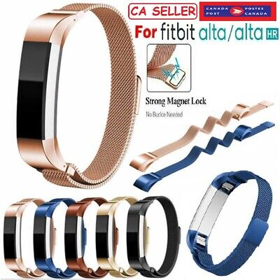 Strap Replacement Stainless Steel Magnetic Lock Band for Fitbit Alta/Alta HR