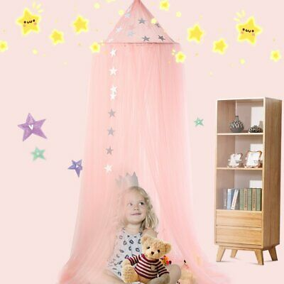 Kids Baby Bed Canopy Bedcover Mosquito Net Curtain Bedding Dome Tent Room Decor