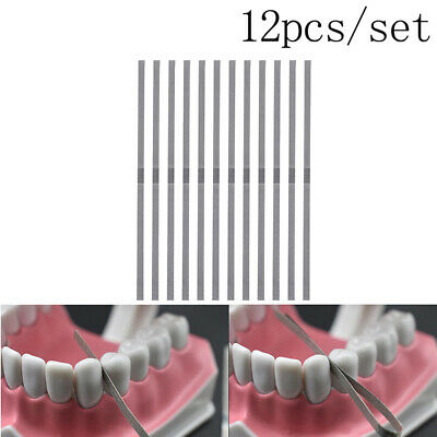 12pcs 4mm Dental Metal Polishing Stick Strip Single Surface Whtening Material 9K