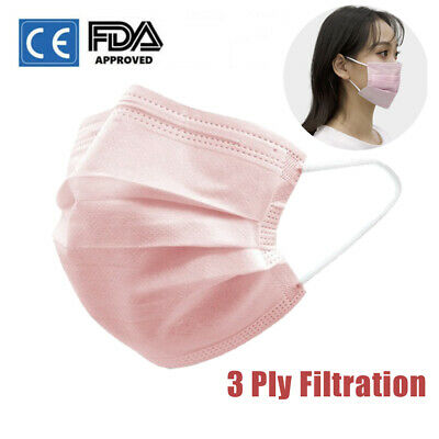 20/30/50 PCS 3Ply Disposable Face Mask Respirator Outdoor Safety Mouth Masks