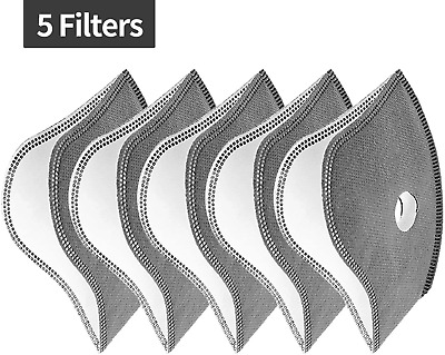 Anti Smog/Dust Face  cover activated carbon 5 FILTERS SAME DAY DISPATCH UK STOCK